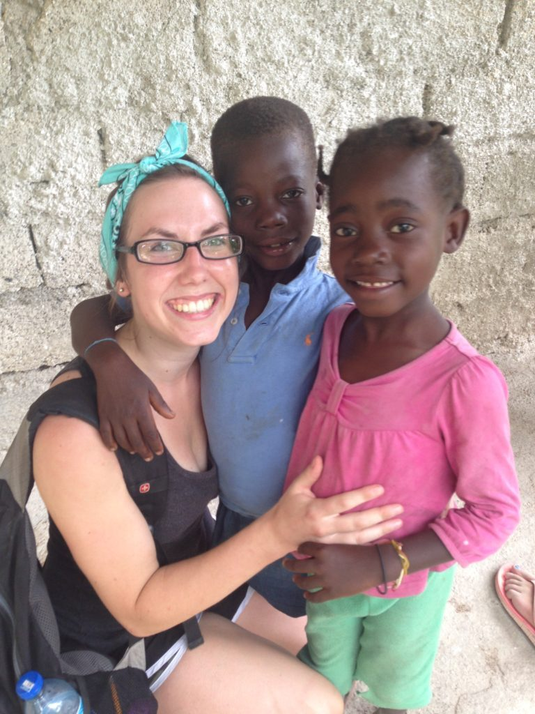 Zoe Norr during her mission work in Haiti.